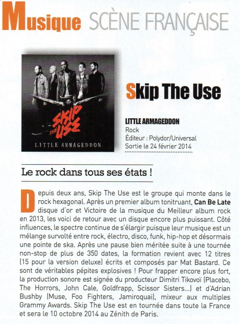 skip the use,little armageddon,interview,le magazine des loisirs culturels auchan,mandor