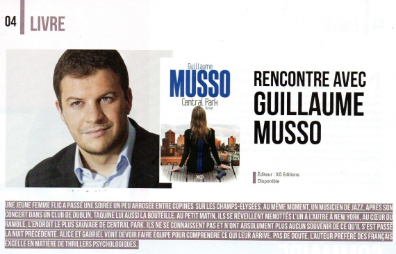 guillaume musso,central park,interview,mandor