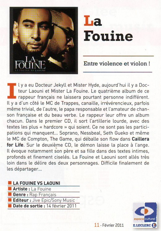 la fouine, laouni, interview, chronique