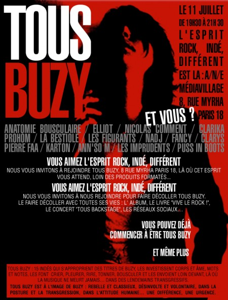 tous buzy,buzy,pierre faa,kate elliot,interview