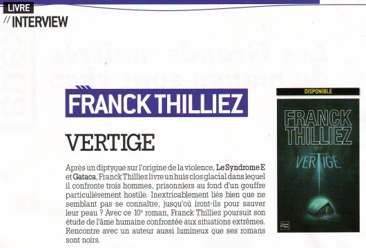 franck thilliez, vertige, interview, addiction